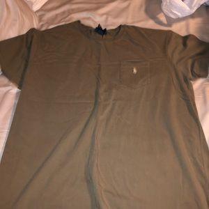 Men's Tan Polo T-Shirt
